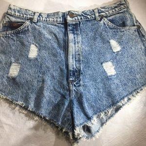 Lee Acid Wash High Waist Vintage 80 Jean Shorts 18